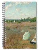 Gathering Autumn Flowers Spiral Notebook