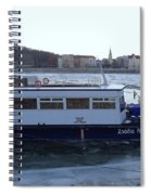 Genre Picture By Frozen Danube Spiral Notebook