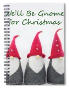 Christmas Gnomes Spiral Notebook