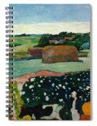 Haystacks In Brittany Spiral Notebook