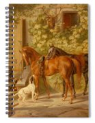 Horses At The Porch Spiral Notebook