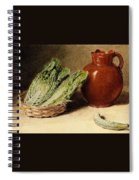 Hunt William Henry Still Life With A Jug A Cabbage In A Basket And A Gherkin William Henry Hunt Spiral Notebook