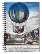 Hydrogen Balloon, 1783 Spiral Notebook
