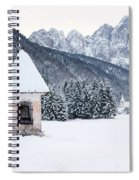 Idyllic Landscapes Immersed In The Snow. The Dream Of The Julian Alps And Valbruna Spiral Notebook
