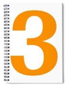 3 In Tangerine Typewriter Style Spiral Notebook