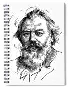 Johannes Brahms 1833-1897 Spiral Notebook