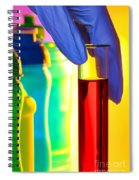 Laboratory Test Tube In Science Research Lab Spiral Notebook