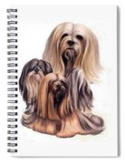Lhasa Apso Triple Spiral Notebook