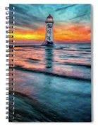 Light House Sunset Spiral Notebook