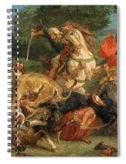 Lion Hunt Spiral Notebook