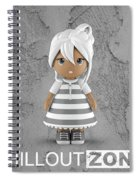 3 Little 3d Girls In Chilloutzone Spiral Notebook