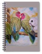 Flygende Lammet   Productions             3 Love Birds Perched Spiral Notebook