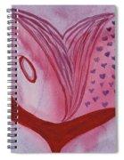 Love Heart Spiral Notebook