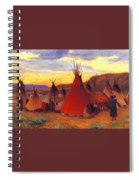 lrs Sharp Joseph Henry Evening Crow Reservation Joseph Henry Sharp Spiral Notebook