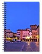Mantova City Piazza Delle Erbe Evening View Panorama Spiral Notebook