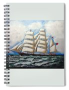 3 Master Tall Ship Spiral Notebook
