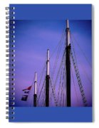 3 Masts In Halifax Spiral Notebook