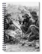 3 Men And A Dog Panning For Gold C. 1889 Spiral Notebook