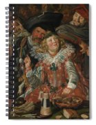 Merrymakers At Shrovetide Spiral Notebook