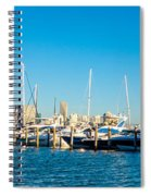 Miami Florida City Skyline Morning With Blue Sky Spiral Notebook