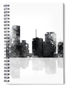 Miami Florida Skyline Spiral Notebook
