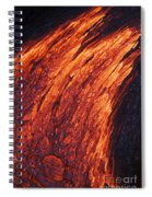 Molten Pahoehoe Lava Spiral Notebook
