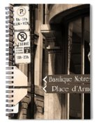 Montreal Street Scene Spiral Notebook