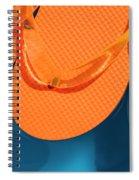 Multicolored Flip Flops Floating In Pool Spiral Notebook