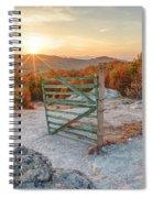 Mushroom Rock Phenomenon At Sunset Spiral Notebook
