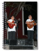 Musicians In The Park Candelaria In Valladolid Spiral Notebook