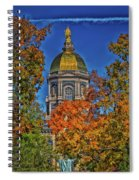 Notre Dame's Golden Dome Spiral Notebook