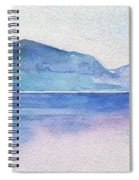 Ocean Watercolor Hand Painting Illustration. Spiral Notebook