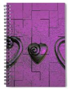 3 Of Hearts Spiral Notebook