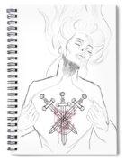 3 Of Swords Spiral Notebook