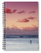 Paddlers At Sunset Spiral Notebook