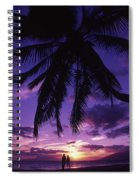 Palm Over The Beach Spiral Notebook