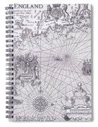 Part Of Captain J Smith's Map Of New England Spiral Notebook