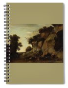 Pastoral Scene At The Cave Spiral Notebook