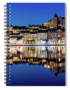 Perfect Sodermalm And Mariaberget Blue Hour Reflection Spiral Notebook
