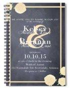 Personalized Wedding Invitation Spiral Notebook