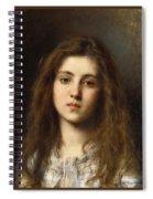 Portrait Of A Young Girl Alexei Alexeivich Harlamoff Spiral Notebook