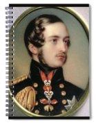 Prince Albert Henry Pierce Bone Spiral Notebook