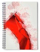 Red Flag On Black Background Spiral Notebook