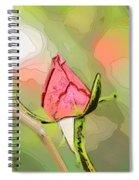 Red Garden Rose Bud Spiral Notebook