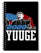 Reelect Trump For President Keep America Great Dark Spiral Notebook