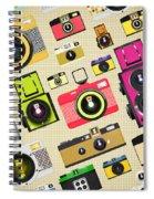 Retro Camera Pattern Spiral Notebook
