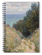 Road At La Cavee. Pourville Spiral Notebook