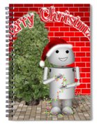 Robo-x9 Wishes A Merry Christmas Spiral Notebook