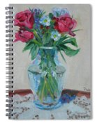 3 Roses Spiral Notebook