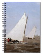 Sailboats Racing On The Delaware Spiral Notebook